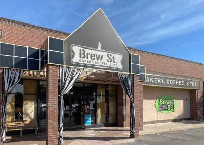 Brew St., a tenant at the Colonnade at Polo Park shopping center in Midland TX