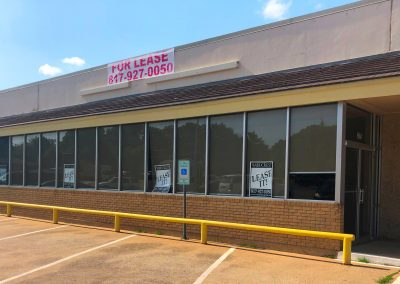 A 6,500 SF commercial retail suite available for lease in the Joshua Shopping Center in Joshua TX