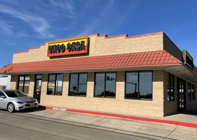 Taco Casa, a restaurant in the Saginaw Commons shopping center in Saginaw TX