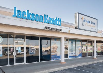 Jackson Hewitt Tax Service and Weight Loss Solutions, two tenants in the Town & Country Shopping Center in Odessa TX