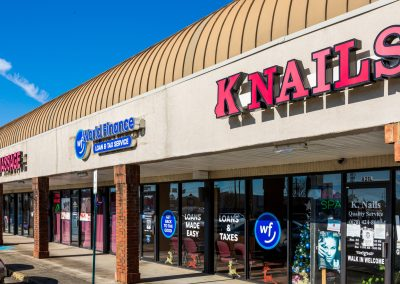 K Nails, a tenant in the Concord Corners shopping center in Smyrna GA