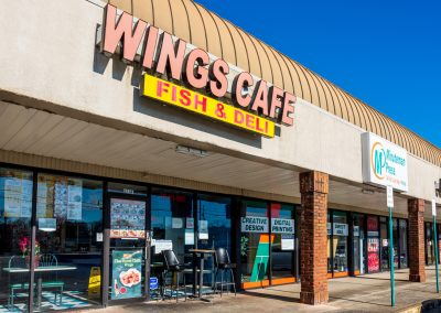 Wings Cafe Fish & Deli, a restaurant in the Concord Corners shopping center in Smyrna GA