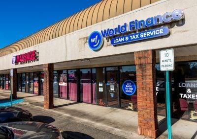 World Finance, a tenant in the Concord Corners shopping center in Smyrna GA