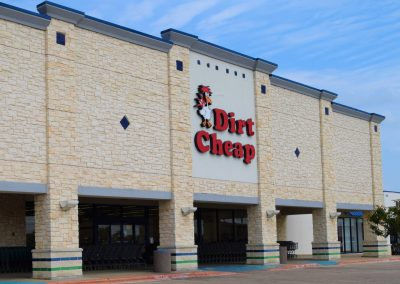 Dirt Cheap at the Rufe Snow Village shopping center & Dirt Cheap in North Richland Hills TX