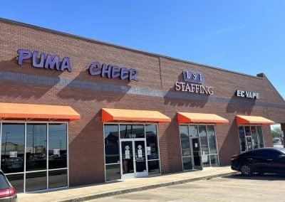 Puma Cheer, a tenant in the Watauga Marketplace shopping center in Watauga TX