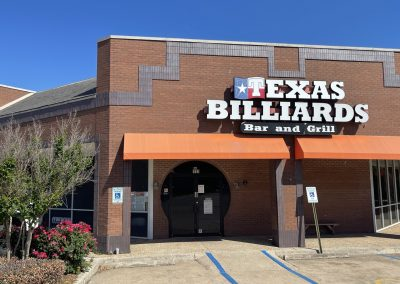 Texas Billiards, a billiards bar and grill in the Watauga Marketplace shopping center in Watauga TX