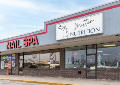 Mitten Nutrition and Nail Spa, two stores in the Thunder Bay shopping center in Alpena MI