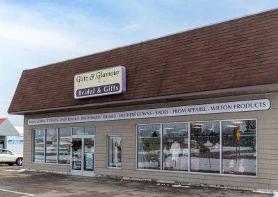 Glitz & Glamour Bridal & Gifts, a bridal & tuxedo shop in the Thunder Bay shopping center in Alpena MI