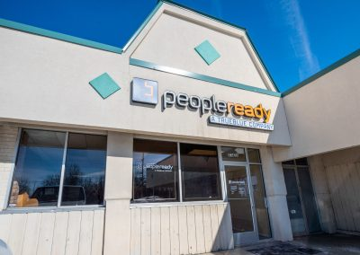 PeopleReady, a staffing agency in the Diplomat Plaza shopping center in Flint Township, MI