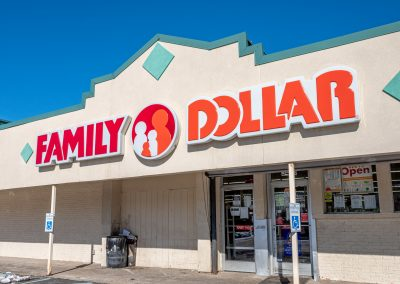 Family Dollar, a store in the Diplomat Plaza shopping center in Flint Township, MI