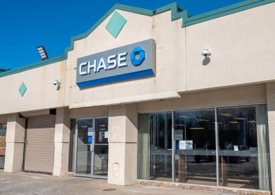 Chase, a bank in the Diplomat Plaza shopping center in Flint Township, MI