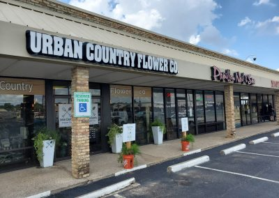 Village Park shopping center's tenant Urban Country Flowers in Pantego TX