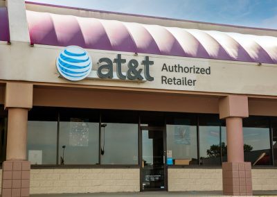 AT&T, a cell phone company in the Jasper Manor shopping center in Jasper Indiana