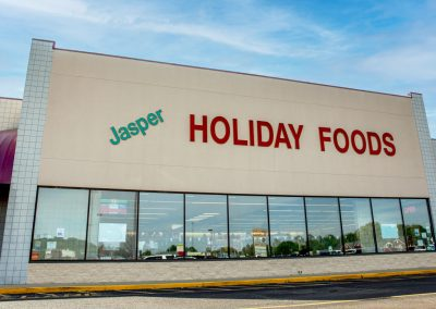 Holiday Foods, a grocery store in the Jasper Manor shopping center in Jasper Indiana
