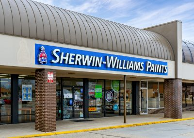 Sherwin-Williams Paints, a paint store in the Northmont Plaza shopping center in Englewood, OH