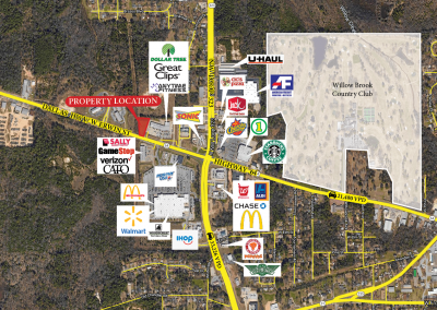 AERIAL of the 0.93 Acres Tyler Pad Site/raw land in Tyler TX