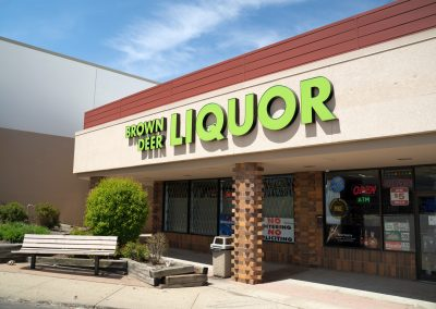 Brown Deer Liquor, a liquor store at the Shops at Highland Plaza in Milwaukee WI