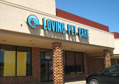 London's Loving Pet Care, a pet groomer and doggie day care at the Shops at Highland Plaza in Milwaukee WI