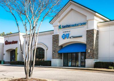 BCBS Sanitas Medical Center, a medical facility in the Shops at Rock Creek shopping center in Cordova TN