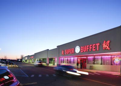 Pipestone Plaza shopping center with Super Buffet in Benton Harbor MI