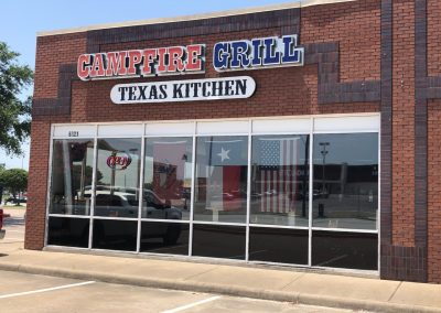 Campfire Grill, a Texan restaurant in the Watauga Marketplace shopping center in Watauga TX