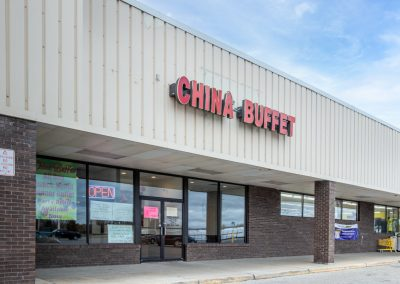 Cheboygan Plaza shopping center anchor tenant China Buffet in Cheboygan Michigan