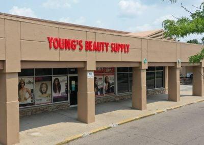 Young's Beauty Supply, a store in the Promenade Plaza shopping center in Cincinnati, Ohio