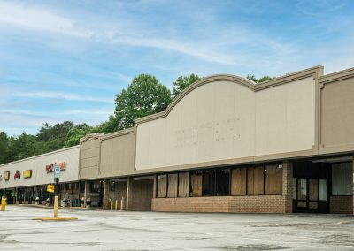 The vacant anchor suite in the Centerview Plaza shopping center in China Grove, NC