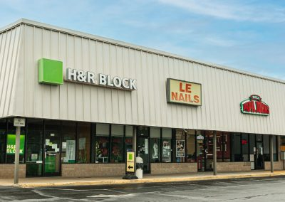 H&R Block, a tax preparer in the Centerview Plaza shopping center in China Grove, NC