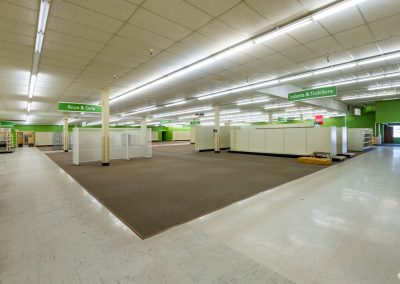 Interior of the Former Shopko freestanding retail building available in Clintonville WI