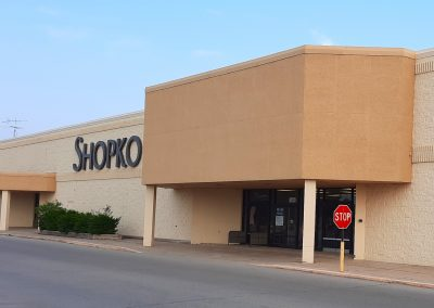 Front entrance of the Former Shopko freestanding retail building available in Austin MN